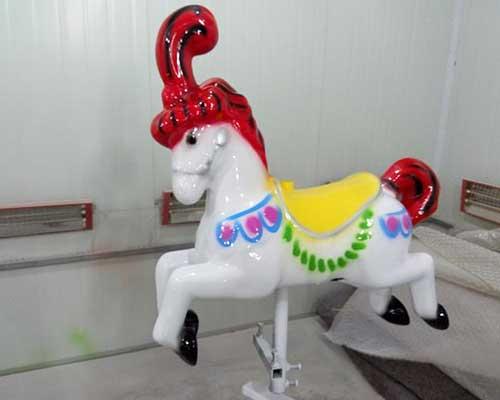 fiberglass mini carousel horses cheap