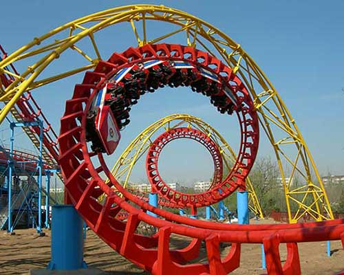 amusement park giant roller coaster for sale