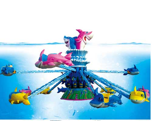 popular kiddie rides shark-themed self-control rotary rides