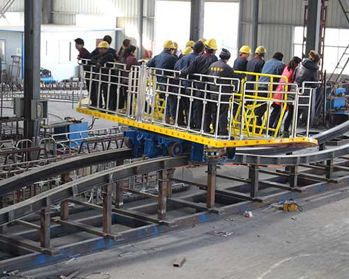 testing of surf's up rides in factory of Beston